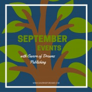 SEPTEMBER EVENTS WITH CAVERN OF DREAMS PUBLISHING!